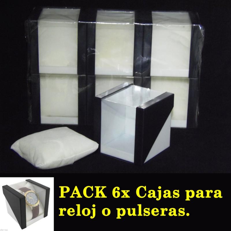 Pack 6 Cajas para reloj o Joyas