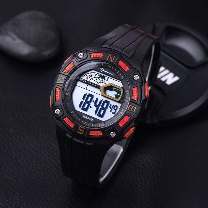 Reloj LED Digital Deportivo Rojo